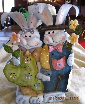 Easter Bunny Candle Holder,Mr. and Ms. Home Interiors #11399 NIB