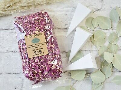 Natural Dried Petal Biodegradable Wedding Confetti 1L Red Burgandy Rose