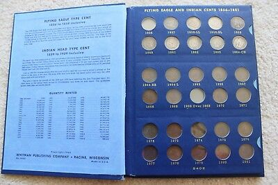 1856-1909 Indian Head Cents Including Flying Eagle Partial Collection (58 coins)