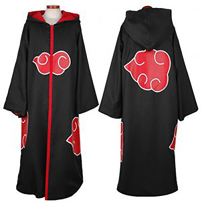 Anime Naruto Akatsuki Itachi Uchiha Cosplay Costume Cloak Halloween Cape Gifts