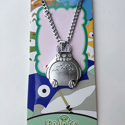 Anime My Neighbor Totoro Silver Alloy Pendant Necklace Cosplay Gift New Fashion