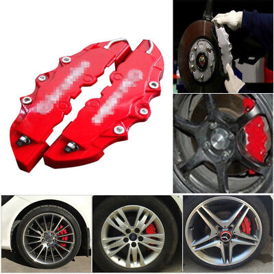 2PCS For Car Wheel Brake Caliper Cover Front Rear Dust Resist Protection Durable