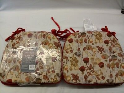 BRENTWOOD CHAIR PADS 4 PACK REVERSIBLE WITH TIES Red ...