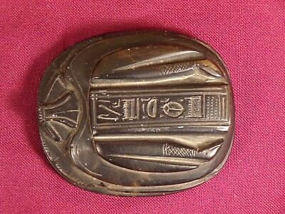 Good Luck Scarab Beetle Egyptian Vintage / Antique Paperweight Hieroglyphs