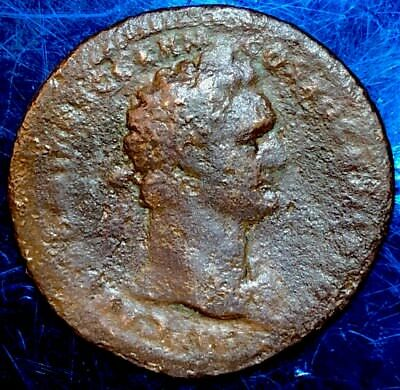Domitian AE Sestertius. Rome Mint. 81-96AD. Ancient Imperial Roman Coin.