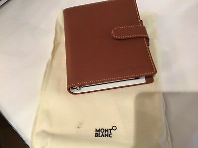 New Authentic & Signed Montblanc Leather Natural Brown Organizer No Reserve Wow