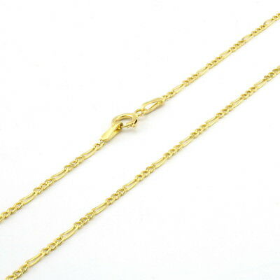 """10K Solid Yellow Gold 1.75mm Womens Figaro Link Chain Pendant Necklace 16""""- 24"""""""