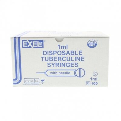 Package of 20 1ml syringe with 27g 1/2 inch needle Sterile Hypodermic
