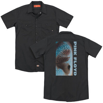 Pink Floyd Rock Band MEDDLE Adult Dickies Work Shirt All Sizes