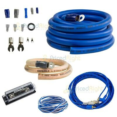 0 Gauge Amp Install Kit 6500W Car Audio Amplifier Over sized Wire Cables