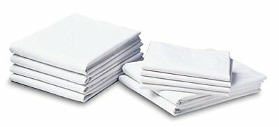 """Lot of 12 Medline Percale Flat Draw Sheets, 54"""" x 72"""" White MDTDS4P72"""