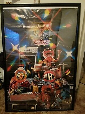 Vintage Framed The Muppet Show Dr Teeth and the electric mayhem poster