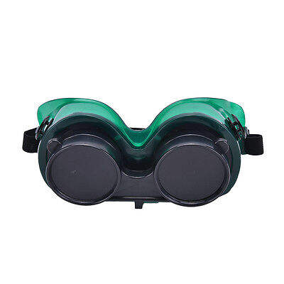 Welding Goggles With Flip Up Darken Cutting Grinding Safety Glasses Green IBCA