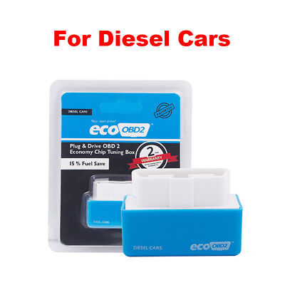 Eco OBD2 Plug Drive Performance Chip 15% Fuel Save Tuning Box for Diesel Car