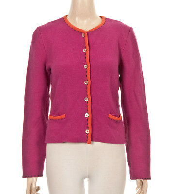 N8°3213 Trachten Strickjacke Von Mondkini In Rosa Orange Gr. 36 Neu