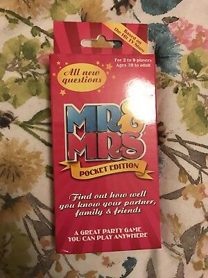 Mr And Mrs Family Edition Pocket Card Board Game 330 New Questions Evening Fun n
