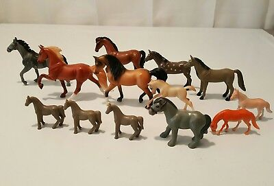 Toy Horse Figurines Lot of (13) Some Breyer Reeves