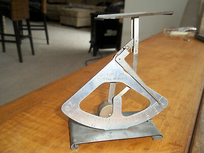 Antique Hamilton Metal Postage Scale - PENDULULM COUNTER BALANCE-INDUSTRIAL AGE