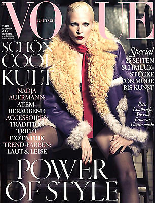 VOGUE Magazine Germany 2014 NADJA AUERMANN Ashley Olsen HANA JIRICKOVA Sealed