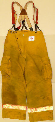 32x30 Pants Firefighter Turnout Bunker Yellow Fire Gear Morning Pride P869