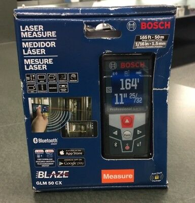Bosch Glm 50 Cx 165Ft Laser Measure Bluetooth