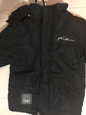 FUBU Brand, The Collection - Boys Winter Hoodie Jacket- Black, Size 10-12