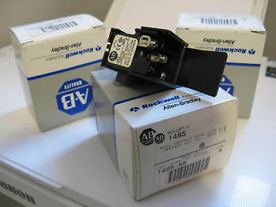 Lot of 3 New Old Stock NOS Allen Bradley 1495-N8 Auxiliary Contact Size 0-3 SerA