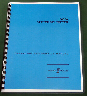 """HP 8405A Operating & Service Manual: w/11""""X17"""" Schematic & Protective Covers"""