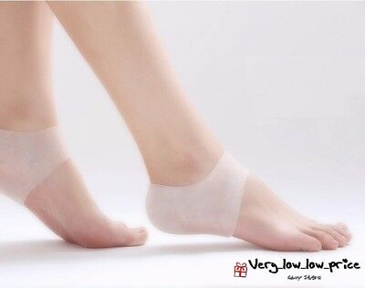 1 or Pair Silicone Gel Heel Protector Plantar Fasciitis Pain Relief Cushion NEW