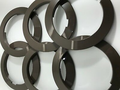 6 x ELEPHANT GREY GPO/BT DIAL OUTER RINGS ('B' GRADE) FOR 700 SERIES TELEPHONES