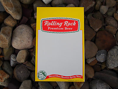 1970's Rolling Rock Beer Window Sign Ad Price Display Bar Tavern Distributor NOS
