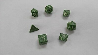 Q-WORKSHOP Call of Cthulhu Green/Glow In Dark Dice Set Special Price