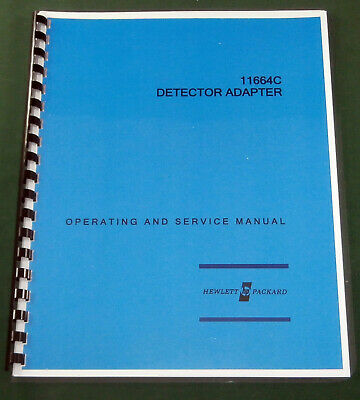 HP 11664C Operation & Service Manual: Comb Bound & Protective Covers