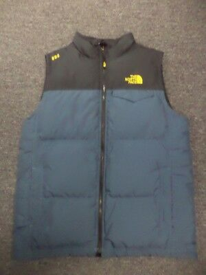 THE NORTH FACE Blue Black Polyester Lined Zip Front Boy's Vest XL 18/20 EE3868