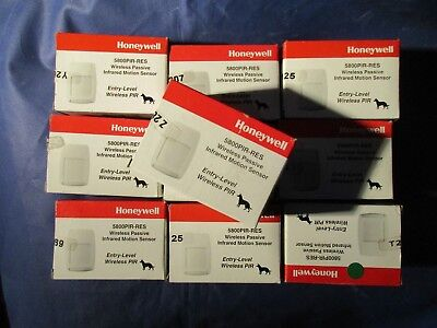 LOT OF 10 HONEYWELL 5800PIR-RES WIRELESS MOTION DETECTORS. Factory sealed boxes.