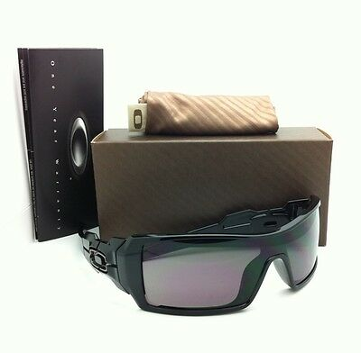 656a64268f3884 New Oakley Sunglasses OIL RIG OO9081 03-460 Shiny Black Frames with Grey  Lenses