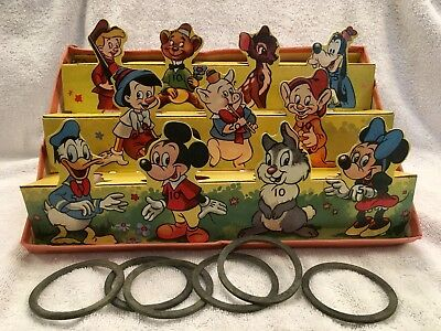 VINTAGE 1950s BRITISH MICKEY MOUSE RING TOSS GAME - WELL MADE GREAT DISPLY ITEM