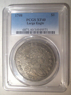 1798 * Pointed 9 * 4 Lines * PCGS XF40 * Silver DRAPED BUST Dollar $1 * $4,250++
