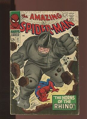 Amazing Spider-Man 41 VG 3.5 * 1 Book Lot * 1st Appearance of Rhino! Gwen Stacy!