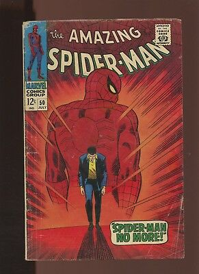 Amazing Spider-Man 50 VG 3.5 * 1 Book * 1st Appearance of Kingpin!!! 1st Flint!