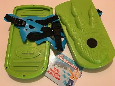 NEW Ideal Sno-Stompers Kids DINOSAUR PRINT Snow Shoes Stompers Sand Tracks ~ NWT