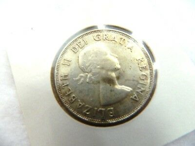 Very High Grade Canadian 1953 Silver Half Dollar 50 Cent Old Vintage Coin