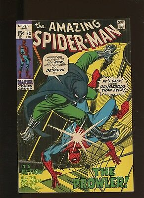 Amazing Spider-Man 93 VF 8.0 * 1 Book * 1st appearance of Arthur Stacy! Prowler!