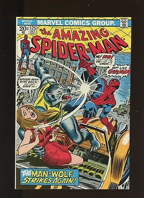 Amazing Spider-Man 125 VF+ 8.5 * 1 Book * Origin of Man-Wolf! Romita Sr. Cover!