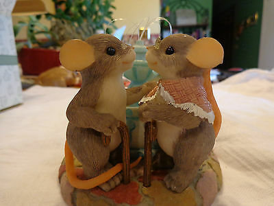 "Charming Tails ""WE ARE YOUNG AT HEART"" SIGNED-Dean Griff  GRANDPARENTS-FOUNTAIN"