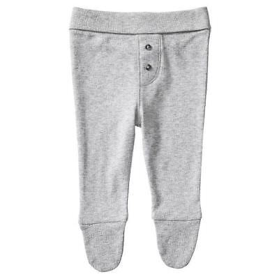 NEW Baby Organic Cotton Pointelle Pants With Enclosed Feet