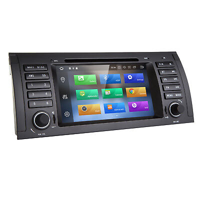 """HIZPO 7"""" Octa-Core Android 8.0 Car DVD GPS Stereo DAB+ 32G ROM BMW 5 Series E39"""