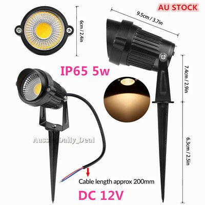 2/4/6X 5W COB LED waterproof Garden Light  Path Lamp Warm white Spotlights DC12V