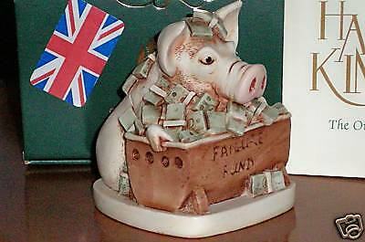 Harmony Kingdom Feeding Frenzy Pig Greed & Corruption UK Made Box Fgurine FE 500