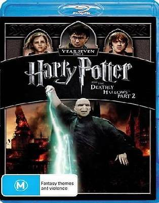 HARRY POTTER AND THE DEATHLY HALLOWS Part 2 New Blu-Ray DANIEL RADCLIFFE ***